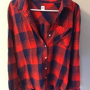 Gap Red and Blue Flannel